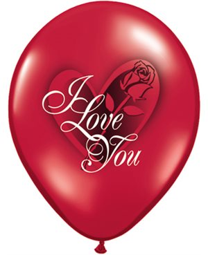 "I Love You Red Rose 11"" (25Ct)"