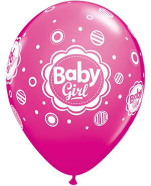 Baby Girl Dots - Rose