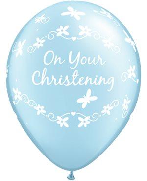 Christening Butterflies - Pearl Light Blue