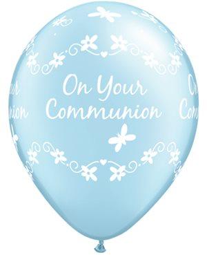 Communion Butterflies - Pearl Light Blue