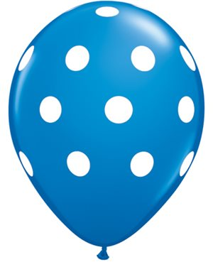 Big Polka Dots - Dark Blue