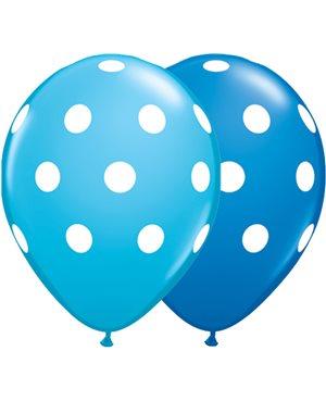 Big Polka Dots - Dark Blue & Robin's Egg Blue