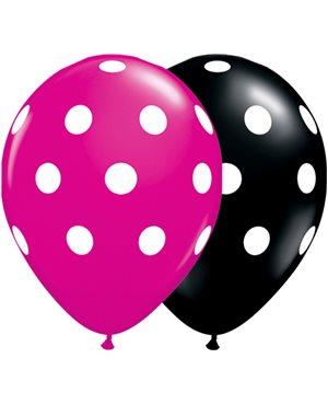 Big Polka Dots - Onyx Black & Jewel Magenta