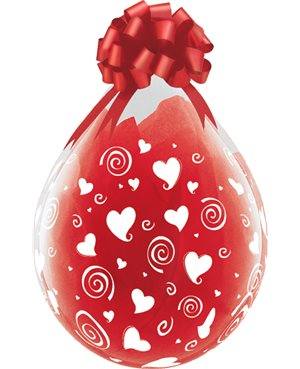 """Swirling Hearts-A-Round 18"""" (25Ct) Englobadora"""