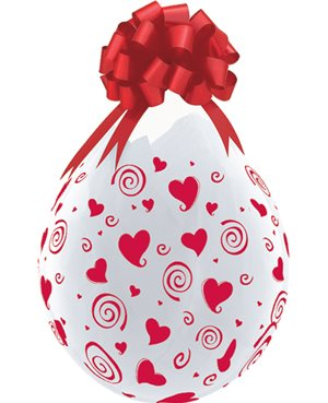 """Swirling Hearts-A-Round - Red Hearts 18"""" (25Ct) Englobadora"""