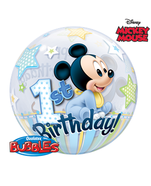 Bubbles Mickey Mouse 1st Birthday