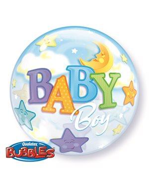 Bubbles Baby Boy Moon & Stars