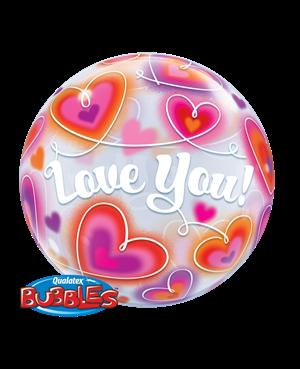 Bubbles Love You Doodle Hearts