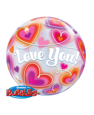 Bubbles Love You Doodle Hearts (Minimo 3 Unid)