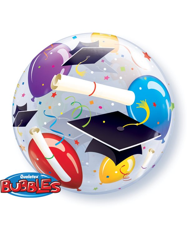 Bubbles Grad Hats & Ballons
