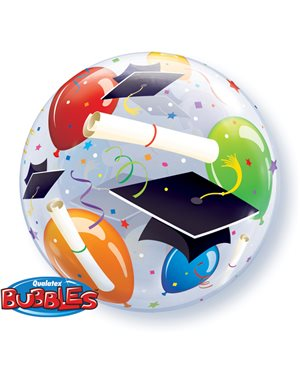Bubbles Grad Hats & Ballons