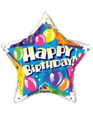 Bithday! Sparkling Balloons Star