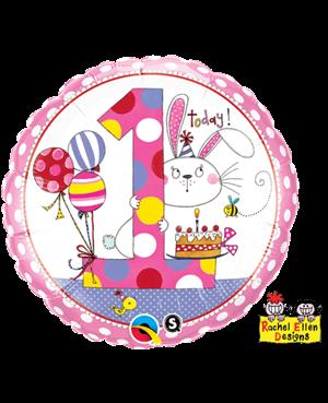 Rachel Ellen - Age 1 Bunny Pola Dots