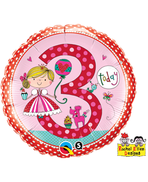 Rachel Ellen - Age 3 Princess Polka Dots