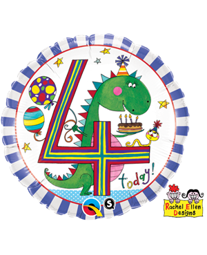 Rachel Ellen - Age 4 Dinosaur Stripes