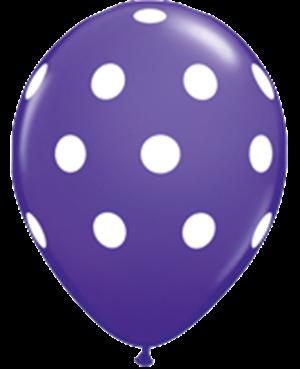 Big Polka Dots - Purple Violet