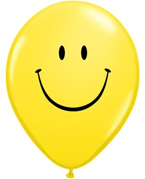 Smile Face Yellow w/Black Ink