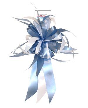 Starburst Bow - Blue / White