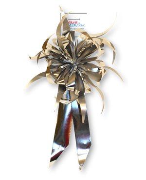 Starburst Bow - Silver Metallic