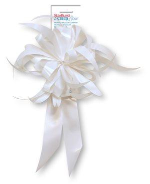 Starburst Bow - White