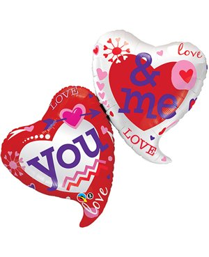 """You & Me Two Hearts  42"""" (Minimo 3 Unid)"""