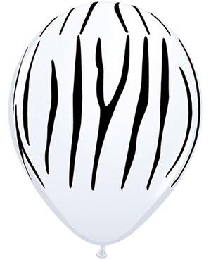 """Zebra Stripes  White 11"""" 25ct"""