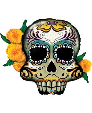 "Day Of The Dead Skull- Foil 38"" -Minimo 3 Unid"