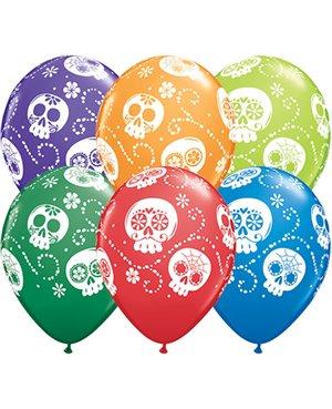"""Sugar Skulls -11"""" Carnival Asst 25ct"""