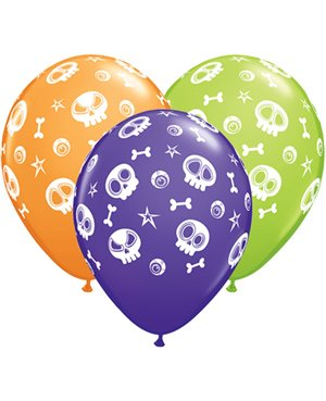 """Fun Skulls & Eyeballs -11"""" Surtido -25 unid"""