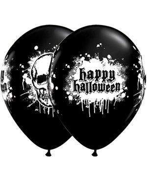 "Halloween Haunted Skull -11""- Bolsas de 6 unid - Minimo 6 bolsas"