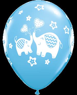Globo de Látex en Español- Es un Niño Elephant (50 unid) Pale Blue