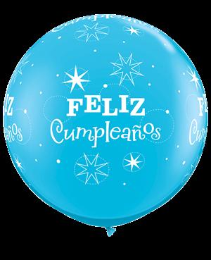 Globo de latex en Español- Feliz Cumpleaños 2 Unid