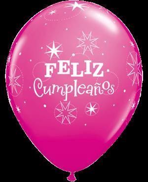 Globo de Látex en Español- Feliz Cumpleaños