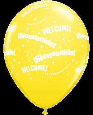 Globo de Látex Español- Bienvenidos