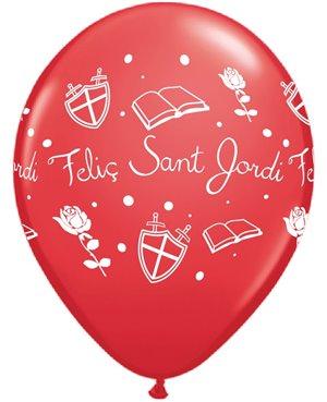 """Felic Sant Jordi 11"""" Rnd Red 25 Unid"""