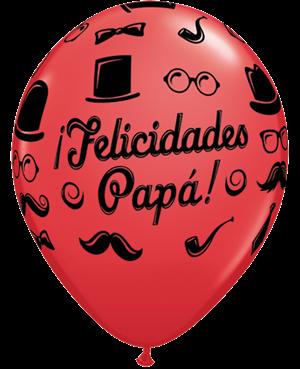 "Felicidades Papa 11"" Ruby Red&Robin´s Egg"