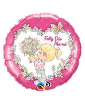 """Feliz Día Mama Rosa Precius Moments 18"""" Minimo 3 unid"""