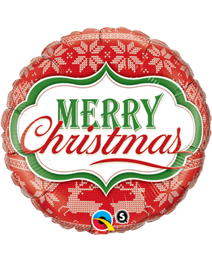 """Merry Chtistmas Nordic Pattern 18"""" (Minimo 3 Unid )"""