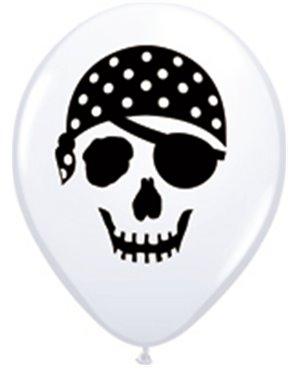 """Pirate Skull 5"""" White (100ct)"""