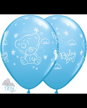 """Tiny Tatty Teddy Baby Boy  11"""" Pale Blue  (25ct)"""