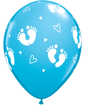 "Baby Footprints  & Hearts 11"""