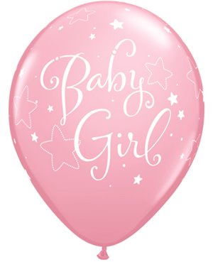 "Baby Girls Stars 11"" Pink (6ct)  Minimo 6 Unidades"