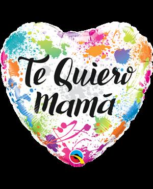 "Te Quiero Mama Lluvia de Colores 18"" (01ct) Minimo 3 Unid"
