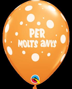 """Per Molts Anys- Lunars 11"""" (25ct)"""