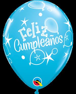 """Feliz Cumpleaños- Globos 11"""" (50ct)"""