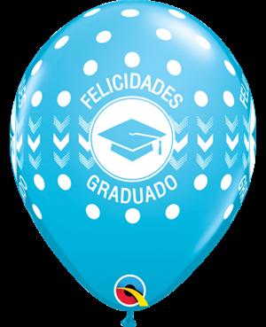 """Felicidades Graduado 11"""" Surtido Tropical (25 unid)"""