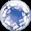 """Deco Bubble - Baby Footprints 24"""" (Minimo 3 UNid)"""