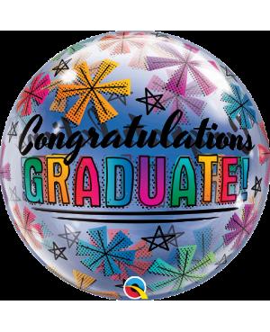 """Congratulations Graduate & Stars 22"""" (Minimo 3 Unid)"""