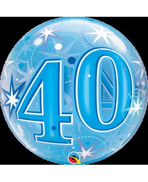 "40  Blue Starburst Sparkle 22"" (Minimo 3 unid)"