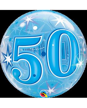 "50 Blue Starburst Sparkle 22"" (Minimo 3 unid)"